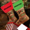 Special Delivery Linen Custom Christmas Stocking.