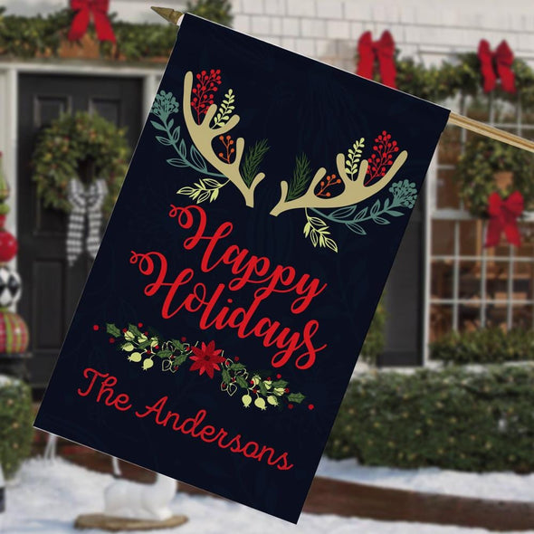 Happy Holidays Custom Christmas Garden Flag