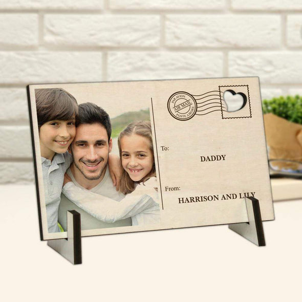 Photo Personalized Wood Postcard
