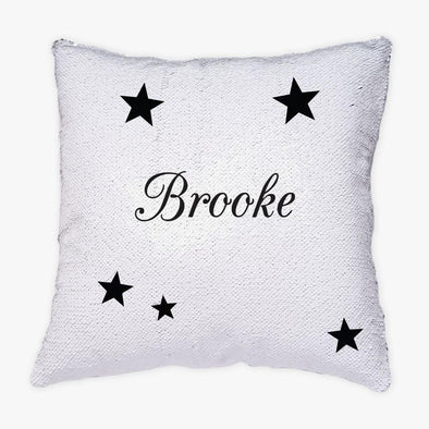 Stars Personalized Flip Sequin Decorative Throw Pillowcase.