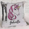Pink Unicorn Personalized Flip Sequin Decorative Throw Pillowcase