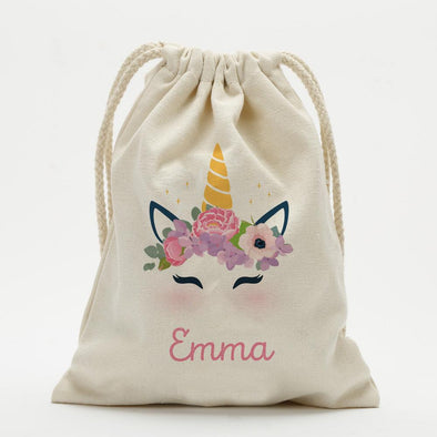 Personalized Unicorn Drawstring Sack.