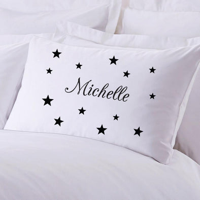 Stars Personalized Kids Sleeping Pillowcase.