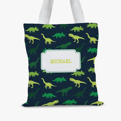 Dinosaur Personalized Kids Tote Bag.