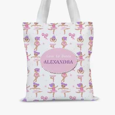 Ballerina Personalized Kids Tote Bag.