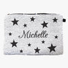 Stars Sequin Makeup Bag Zippered Accessories Pouch