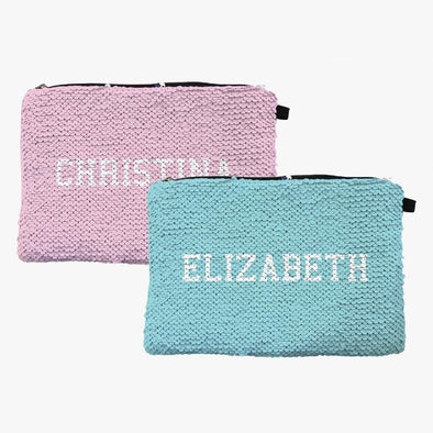 Exclusive Sale | Custom Color Sequin Makeup Bag Zippered Accessories Pouch.