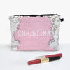 Custom Color Sequin Makeup Bag Zippered Accessories Pouch