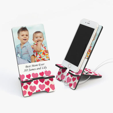 Hearts Photo Custom Cell Phone Stand.