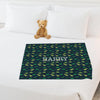 Dinosaur Name Personalized Kids Blanket