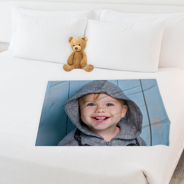 30x40 Personalized Photo Fleece Blanket | Custom Picture Throw Blanket