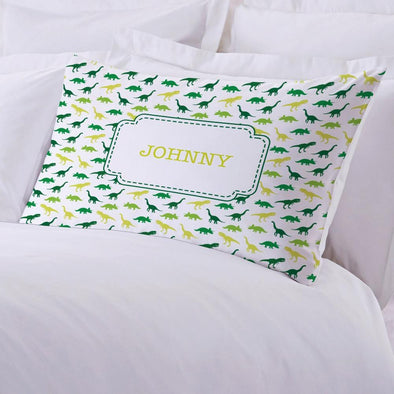 Dinosaur Personalized Kids Sleeping Pillowcase.