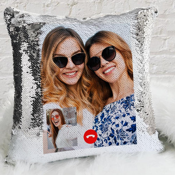 Instagram Photo Personalized Flip Sequin Pillow