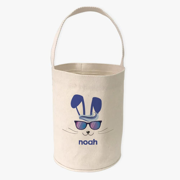 Cool Easter Bunny Custom Canvas Mini Tote Bucket.