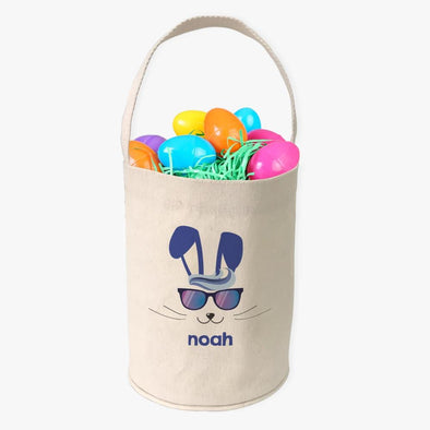 Cool Easter Bunny Custom Canvas Mini Tote Bucket