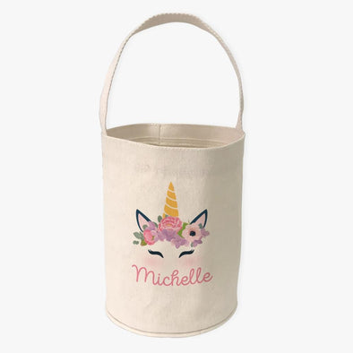 Unicorn Custom Canvas Mini Tote Bucket.