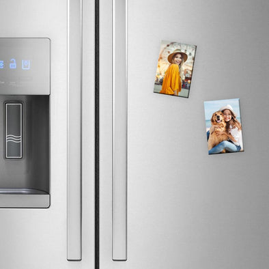 Personalized Rectangular Photo Refrigerator Magnet.