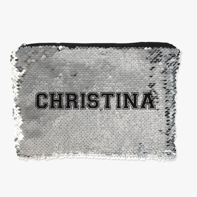 Personalized Name Flip Sequin Makeup, Cosmetics Pouch Bag.