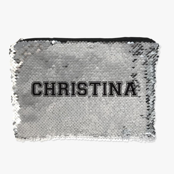 Personalized Name Flip Sequin Makeup, Cosmetics Pouch Bag