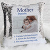 Meaning Of A Mother Personalized Photo Decorative Sequin Throw Pillowcase