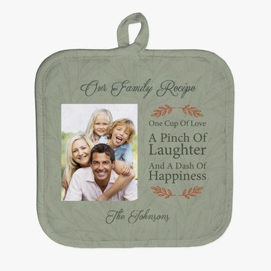 Family Recipe Photo Personalized Pot Holder.