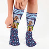 Dog Paw Photo Personalized Tube Socks.
