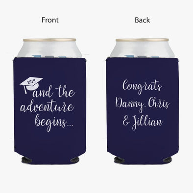 Congrats Grads Personalized Can Beverage Koozie.