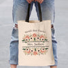 World's Best Teacher Personalized Black Handle Tote Bag | Custom Teacher Gifts.