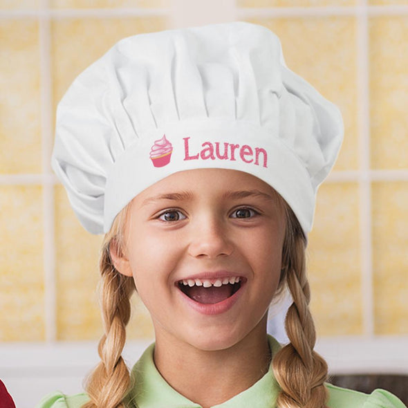 Cupcake Personalized Kids Chef Hat