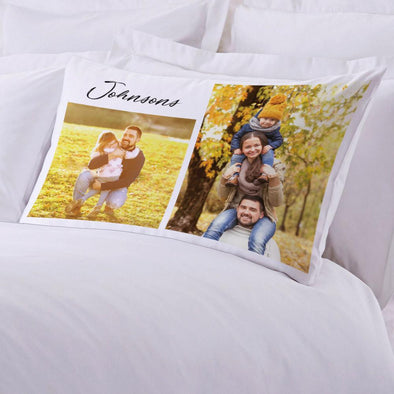 Family Photo Collage Personalized Sleeping Pillow case | Customized with Name Photo Pillow