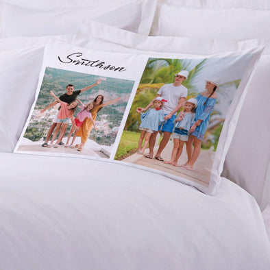 Family Photo Collage Personalized Sleeping Pillow case | Customized with Name Photo Pillow.