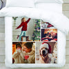 50 x 60 Personalized Photo Collage Blanket | Custom Picture Blanket for Kids and Family