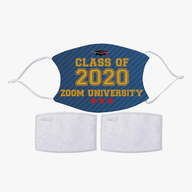 Graduation Design Personalized Face Mask w/ 2 Filters Included | Custom Graduate's Gift Reusable Fashion Facial Cover.