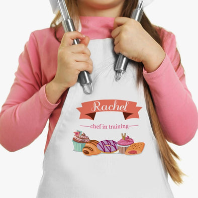 Chef In Training Personalized Kids Apron.