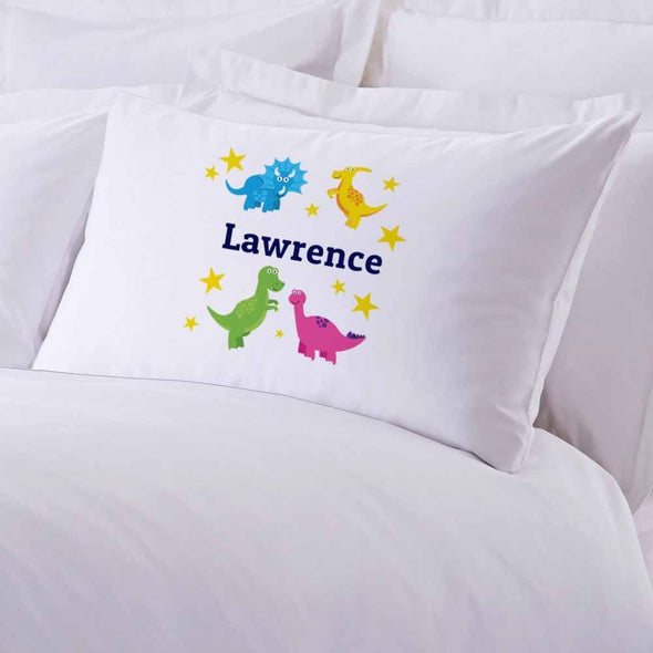 Personalized Dinosaurs Stars Sleeping Pillowcase.