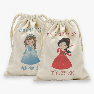 Personalized Princess Character Drawstring Sack.