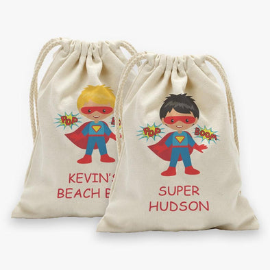 Super Hero Customized Character Drawstring Sack.