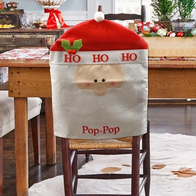 Personalized Santa's Head Chair Cover