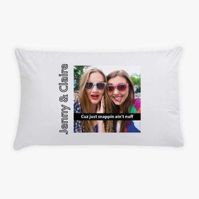 Snappin Photo Personalized Kids Sleeping Pillowcase.