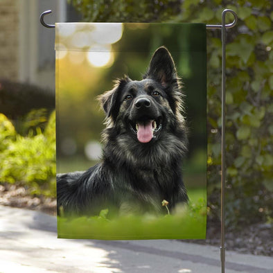 Personalized Best Pet Photo Garden Flag.