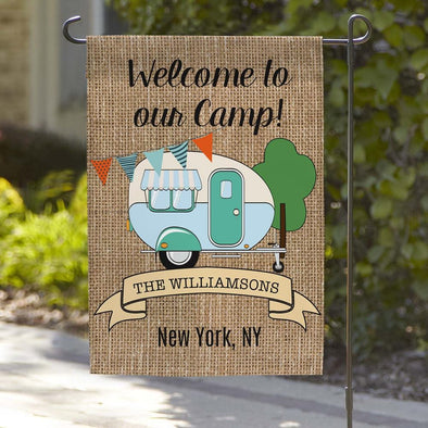 Welcome To Our Camp Personalized Garden Flag