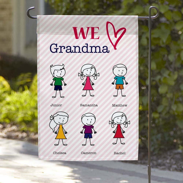 We Love Grandma Custom Garden Flag.