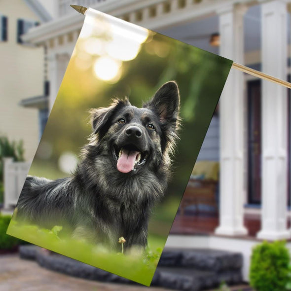 Personalized Best Photo Pet House Flag.