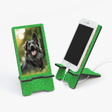 Custom Dog Bone Photo Cell Phone Stand.