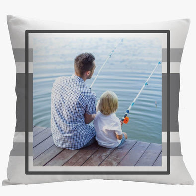 Personalized Framed Photo Pillow Case | Custom Decorative Pillow Throw.