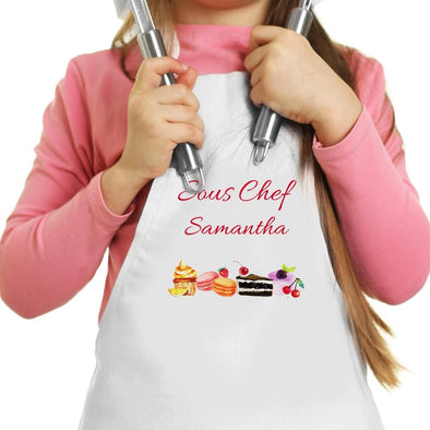 Personalized Pastry Sous Chef Kids Apron.