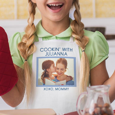Cookin' Photo Personalized Kids Apron.