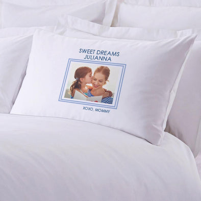Sweet Dreams Photo Personalized Kids Sleeping Pillowcase.