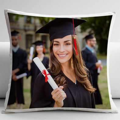 Custom Graduate's Photo Decorative Pillow Case | Personalized Throw Pillow.