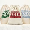 College Custom Large Laundry Drawstring Sack.